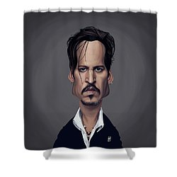 Celebrity Sunday - Johnny Depp Shower Curtain