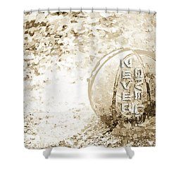 Never Give Up Hebrews Chapter 11 Shower Curtain