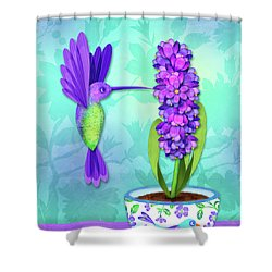 H Is For Hummingbird Shower Curtain