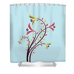Flowers Of Watching Eyes Shower Curtain