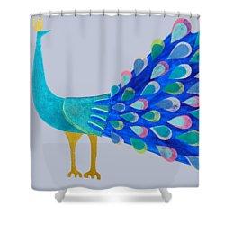 Pretty As A Peacock Shower Curtain