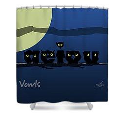 Vowls Shower Curtain