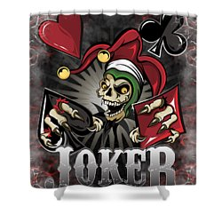 Joker Poker Skull Shower Curtain