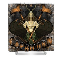 The Goat Capricorn Spirit Shower Curtain