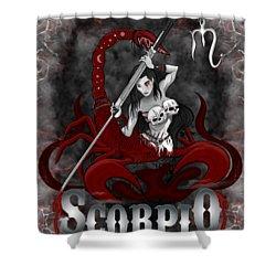 The Scorpion Scorpio Spirit Shower Curtain