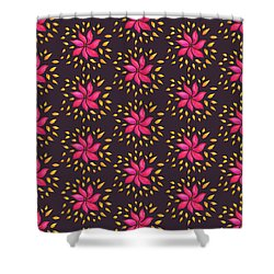 Abstract Whimsical Watercolor Pink Flower Shower Curtain