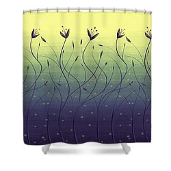 Algae Plants In Green Water Shower Curtain