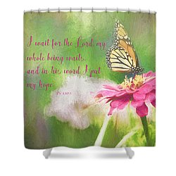 Psalm 130 Shower Curtain