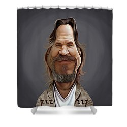 Celebrity Sunday - Jeff Bridges Shower Curtain