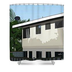 Apartment Shadows Shower Curtain