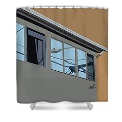 Power Windows Shower Curtain