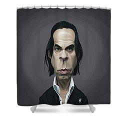 Celebrity Sunday - Nick Cave Shower Curtain