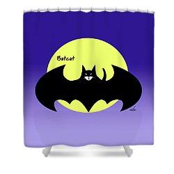 Batcat Shower Curtain