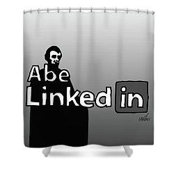 Abe Linkedin Shower Curtain
