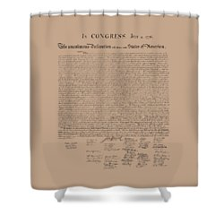 The Declaration Of Independence Shower Curtain by War Is Hell Store