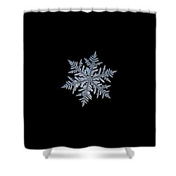 Real Snowflake - Silverware Black Shower Curtain