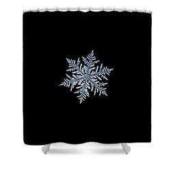 Real Snowflake - Silverware Black Shower Curtain