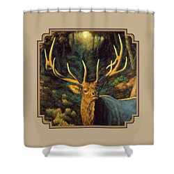 Elk Painting - Autumn Majesty Shower Curtain by Crista Forest
