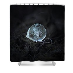 Drop Of Ice Rain Shower Curtain
