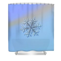 Shower Curtain featuring the photograph Real Snowflake - Hyperion by Alexey Kljatov