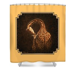 Love's Golden Touch Shower Curtain by Crista Forest