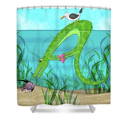 A Is For Alligator Shower Curtain