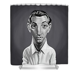 Celebrity Sunday - Robert Mitchum Shower Curtain
