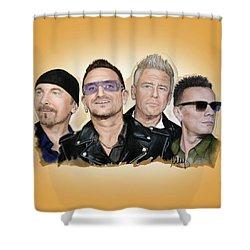 U2 Band Shower Curtain