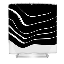 Organic No. 10 Black And White #minimalistic #design #artprints #shoppixels Shower Curtain