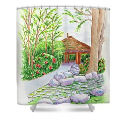 Pavilion Pathway Shower Curtain