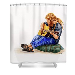 Main Street Minstrel 2 Shower Curtain