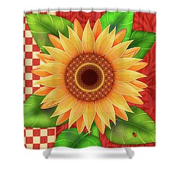 Country Sunflower Shower Curtain