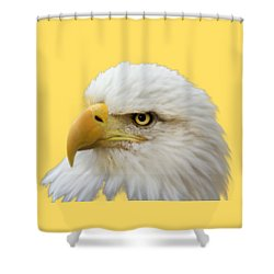 Eagle Eye Shower Curtain by Shane Bechler