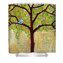 Boughs In Leaf Tree Shower Curtain