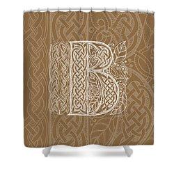 Celtic Letter B Monogram Shower Curtain