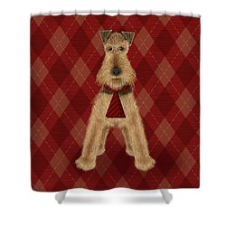 A Is  For Airedale Shower Curtain