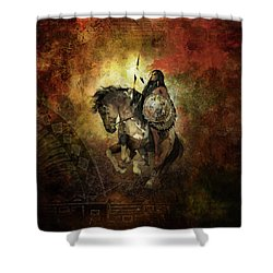 Warrior Shower Curtain by Shanina Conway