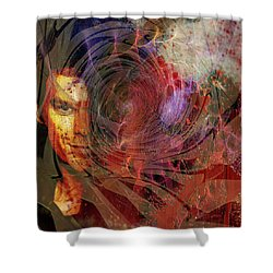 Crimson Requiem Shower Curtain