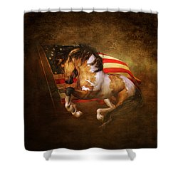 Freedom Run Shower Curtain by Shanina Conway