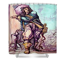 Musketeer Shower Curtain by Kevin Middleton