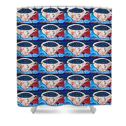 Not My Cup Of Tea Shower Curtain by Ethna Gillespie