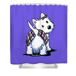 Dressed To Kilt Westie Shower Curtain