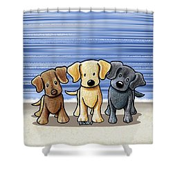 Labrador Beach Trio Shower Curtain