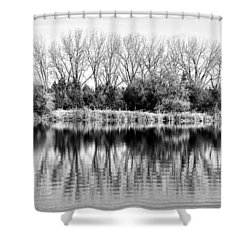 Rippled Reflection Shower Curtain by Bill Kesler