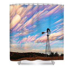 Crazy Wild Windmill Shower Curtain by Bill Kesler