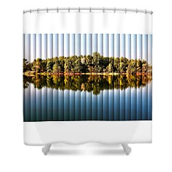 When Nature Reflects - The Slat Collection Shower Curtain by Bill Kesler