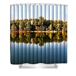 When Nature Reflects - The Slat Collection Shower Curtain