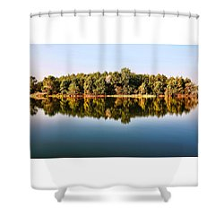 When Nature Reflects Shower Curtain by Bill Kesler