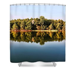When Nature Reflects Shower Curtain