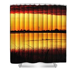 Magnificent Sunrise Swim Shower Curtain by Bill Kesler